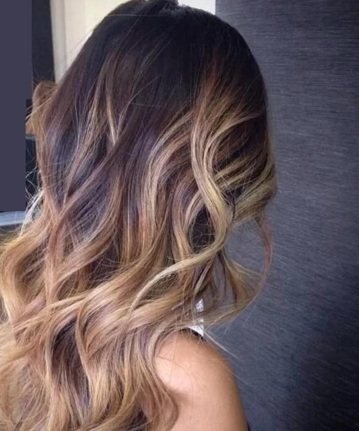 длинные волосы балаяж
