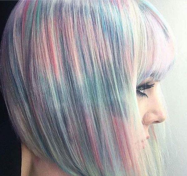 окрашивание волос шиммер