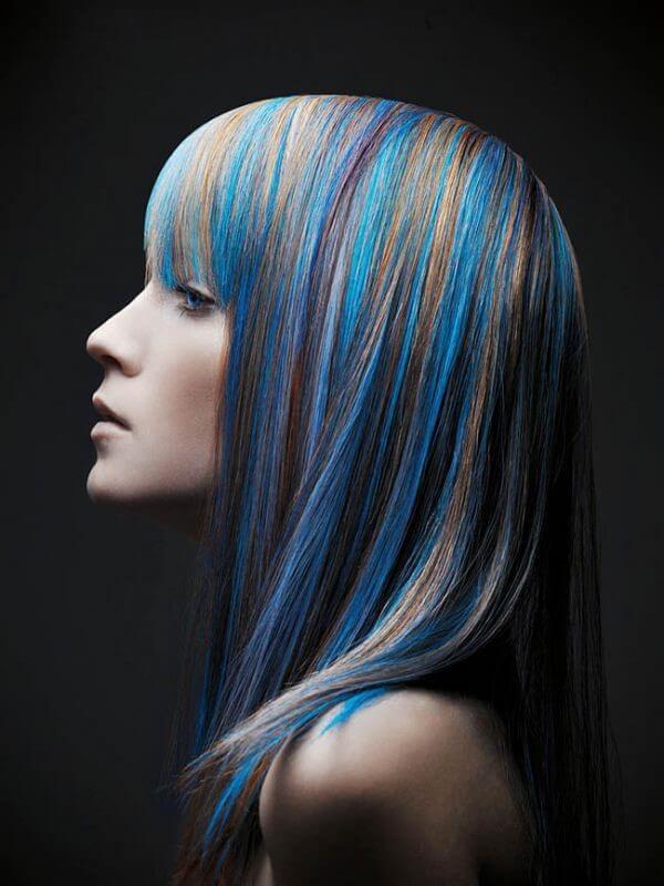 волосы с блеском