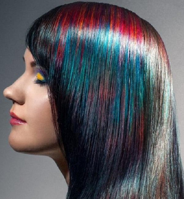 шиммер голографические волосы