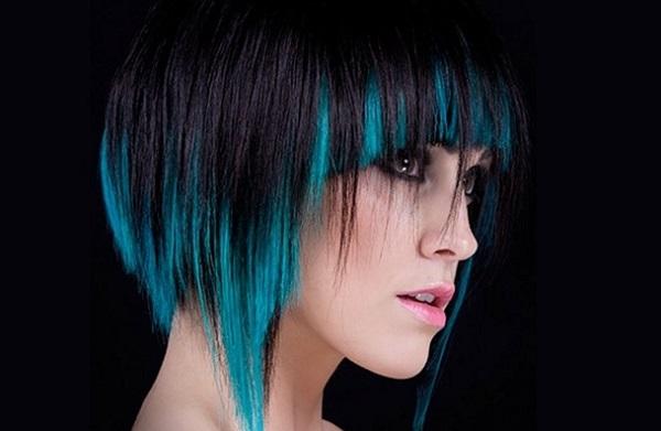 разноцветное окрашивание волос
