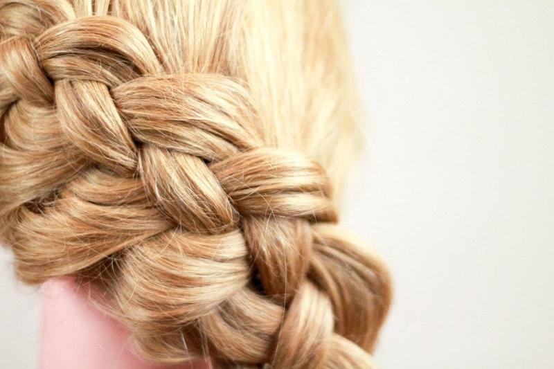 плетение четырехрядной косы