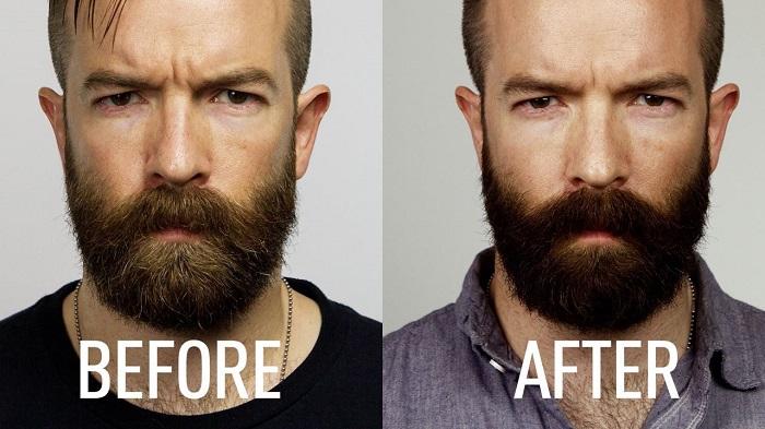 покрасить бороду в салоне