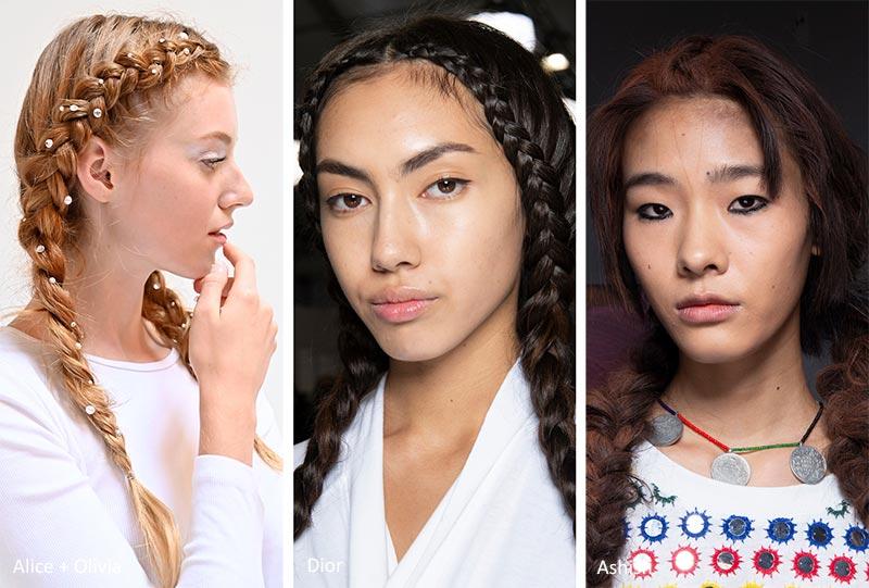 модные прически с косами на весну