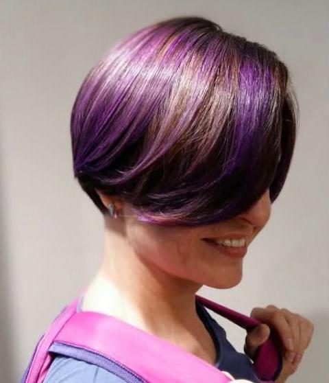 космическое окрашивание волос в фиолетовый цвет