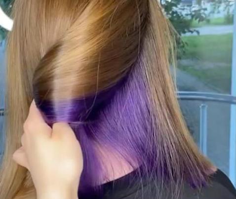 скрытое окрашивание волос
